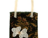 Vintage Velvet Shabby Chic Bag Purse Vintage Trims