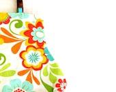 Summer Fun Aqua and Orange Fat Bottom Bag Purse