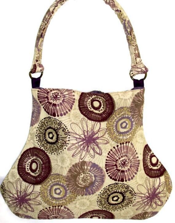 Dusty Purple Modern Print Fat Bottom Bag Purse