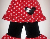 Custom Boutique Minnie Mouse Pillowcase Top And Pants Set