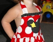 Custom Boutique Disney Minnie Mouse Halter Dress 12 months to 6 year