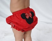 Minnie Mouse First Birthday Celebration Diaper Cover Bloomers