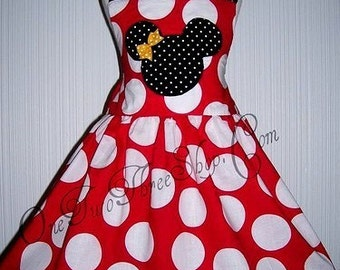 Cstom Boutique Minnie Mouse dress 12 Months to 6 Years