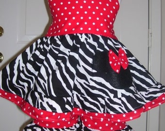Custom Boutique Minnie Mouse Halter Capri Set 12 Months to 6 Years