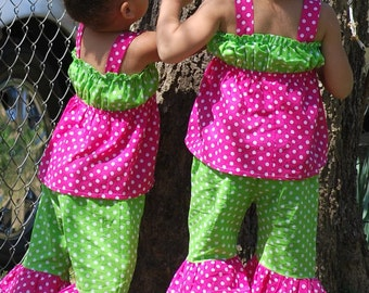 Custom Boutique Sassy Girl Top and Capri Set 12m 18m 2T 3T 4T 5 6 Years