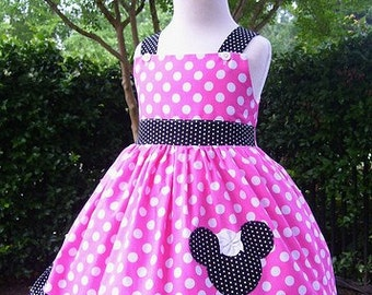 Custom Boutique Minnie Mouse  Jumper Dress