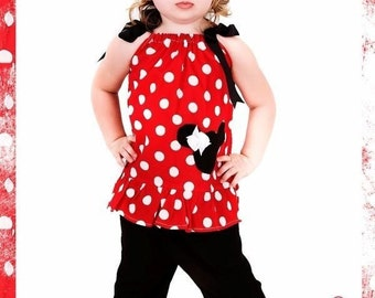 Custom Boutique Minnie Mouse Pillowcase Pants Set 12 Months to 6 Years