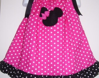 Custom Boutique Minnie Mouse Pillowcase Dress 12 months to 6 years