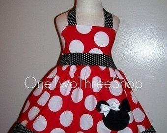 Custom Boutique  Minnie Mouse Halter Dress
