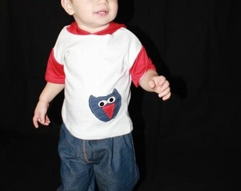 Little Man  Owl  Boy Tee and Pants Set