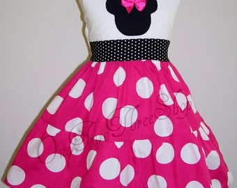 Minnie Mouse Custom Boutique Clothing Jumper  Dress