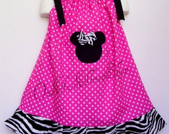 Custom Boutique Clothing Minnie Mouse PIllowcase  Dress