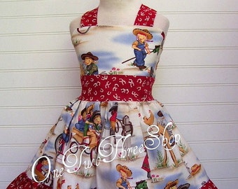Custom Boutique Western Pageant Casual Girl Halter Dress