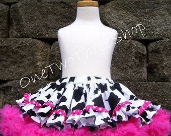 """Custom Boutique Clothing Western pageant casual girl Cow Pettiskirt """"COVER UP"""""""