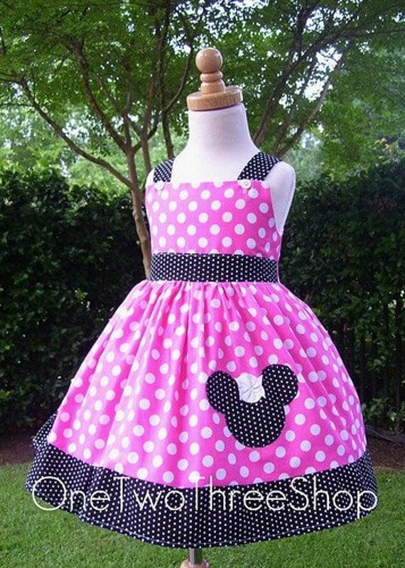 Custom Boutique Minnie Mouse  Jumper Dress