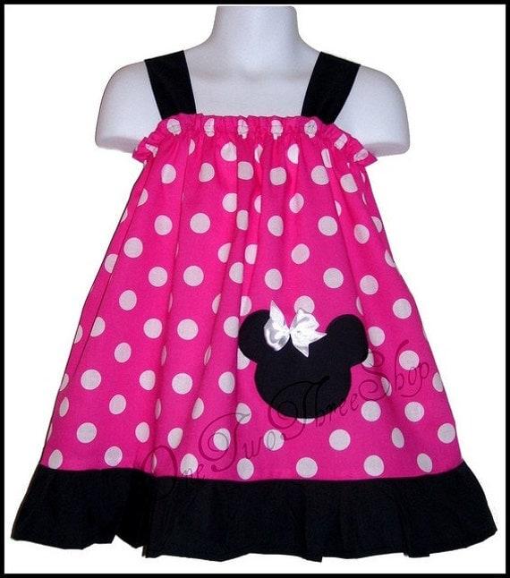 Custom Boutique Clothing Minnie Mouse Sun  Dress