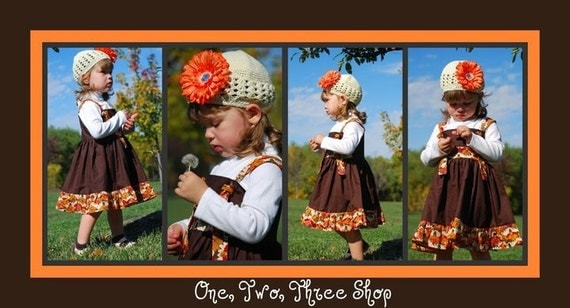 Custom Boutique Clothing Fall Thanksging Tie Knot Jumper Dress