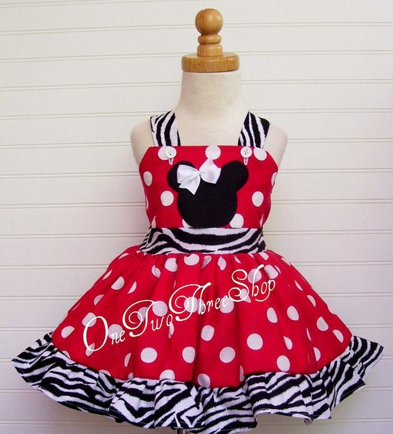 Custom Boutique Clothing Minnie Mouse Jumper  Dress