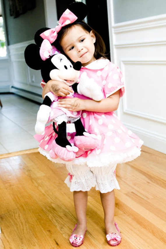 Custom Boutique Clothing Minnie Mouse Puffy Sleeve Bloomers set
