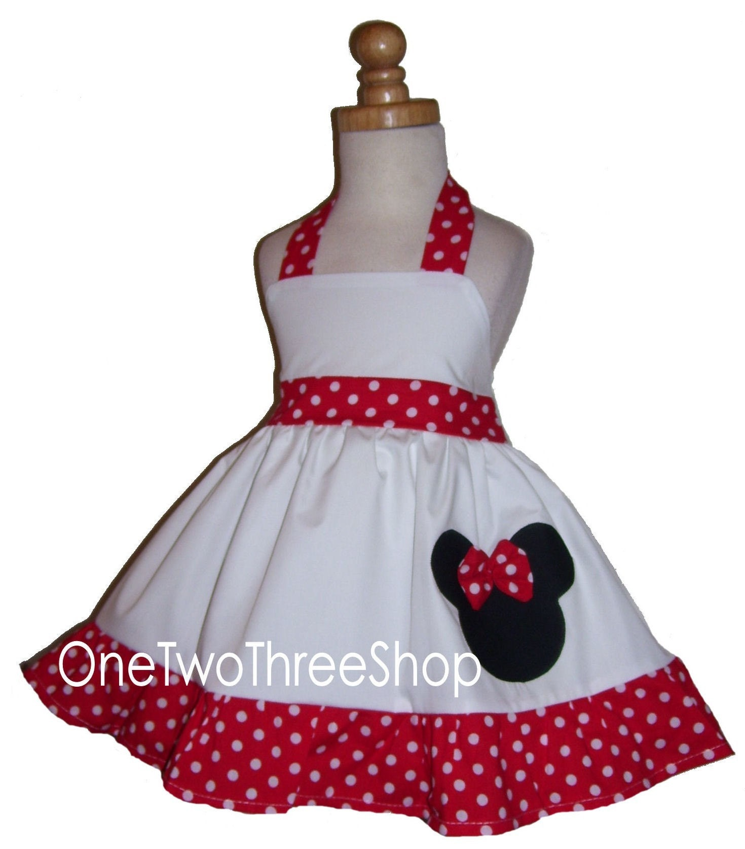 custom boutique clothing minnie mouse polka dot halter