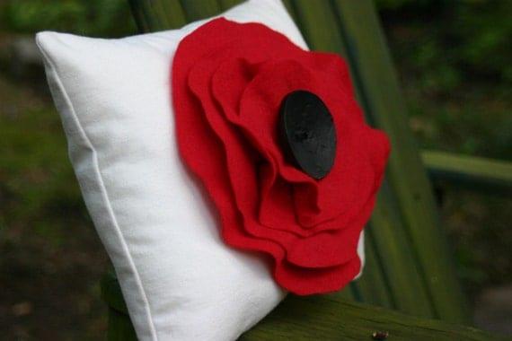 Big Poppy Pillow