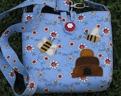 Blue and Red Busy Bee Bag