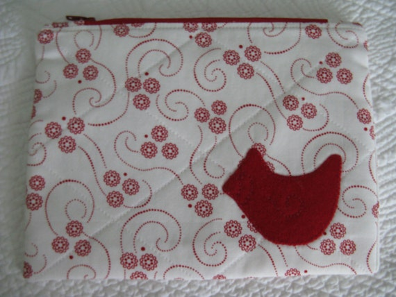 Cardinal Zipper Bag