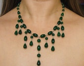Emerald Gemstone Necklace, Choker