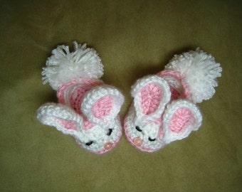 CROCHET PATTERN -  baby bunny slipper bootie shoe, PDF format