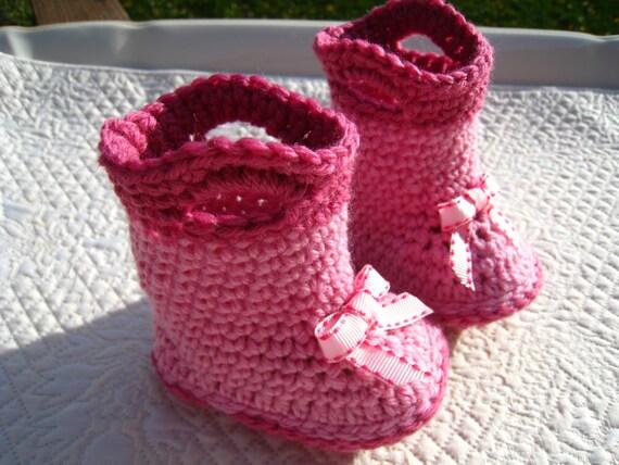 CROCHET PATTERN - baby boot, baby crochet boot, PDF ...