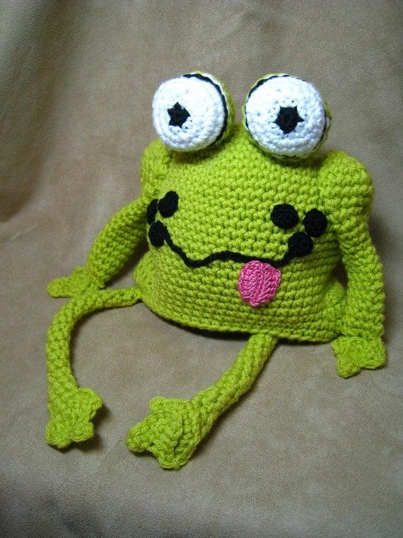 Crochet Pattern Frog Hat Crochet Baby Patternchildren