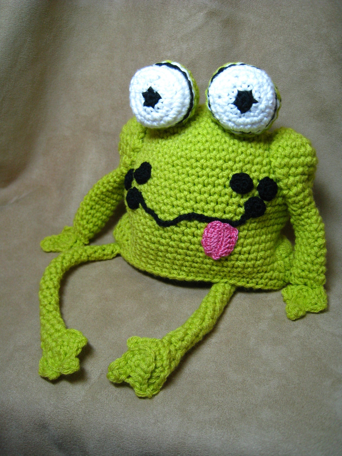 crochet pattern frog hat crochet baby patternchildren. Black Bedroom Furniture Sets. Home Design Ideas