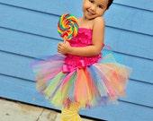 Circus Clown Rainbow Tutu 12mos-5t Candyland