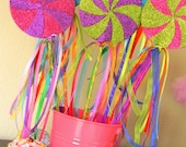 Candyland Lollipop Wands-Set of Six Magical Party Favors