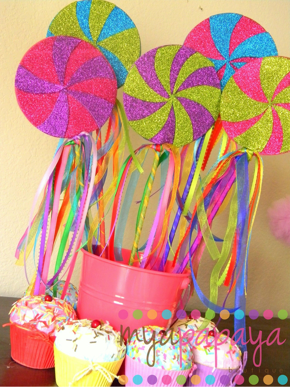 Candyland lollipop wandsset of six magical by