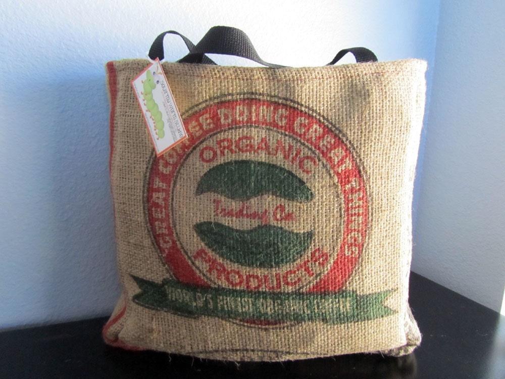 Coffee Burlap Tote Bag Guatemala Organic Trading Co