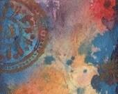 "ACEO original mixed media painting ""I Believe, I Wish"""