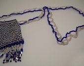 Silver and Blue Peyote Pouch