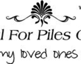 Piles of Laundry Saying - Vinyl Wall Art, Graphics