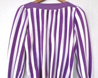 Vintage CANDY STRIPE retro velour sweater