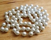 """Pearl Necklace- 36"""" pearl chain"""