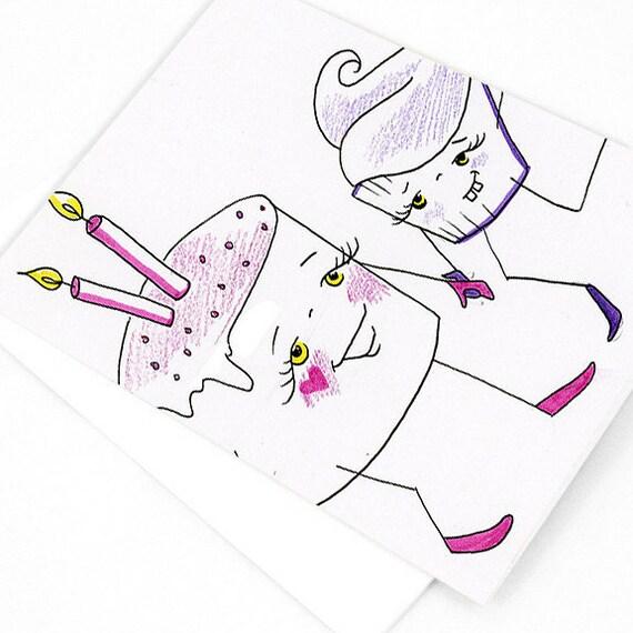 Cake Cupcake Card - Blank Greeting