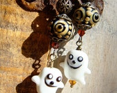 Sale, Halloween Ghostly White Earrings