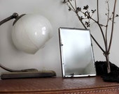 Soviet Vintage Small Table Vanity Mirror. Simple Primitive Rustic Home Decor. Soviet Nostalgia 1930s - 40s