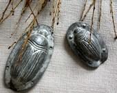 Chocolate Molds. Pair of Vintage Maikaefer Beetle Creepy Crawlies Bugs Scarabs. Collectibles. Rare