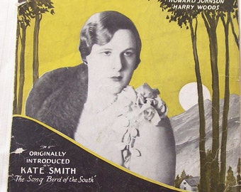 When The Moon Comes Over The Mountain Vintage Piano Sheet Music Kate Smith