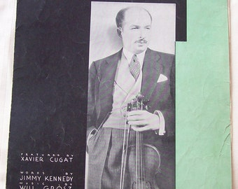 Isle of Capri Xavier Cugat Vintage Piano Sheet Music 1934