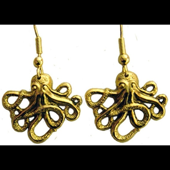 Rockaby Baby Octopus Cthulhu Earrings