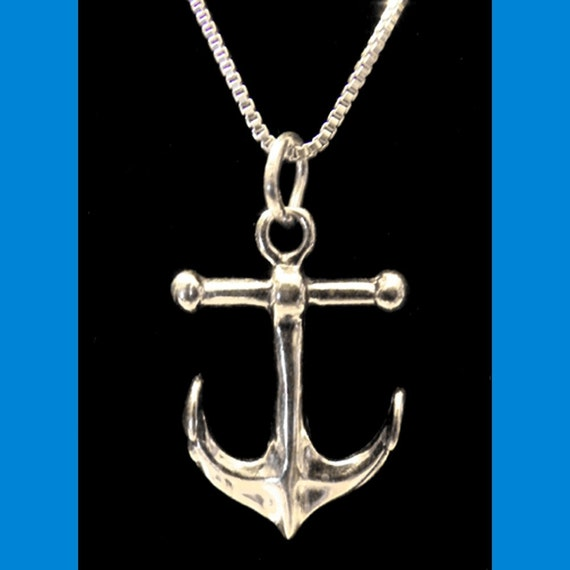 Steampunk Sterling SIlver Anchor Necklace
