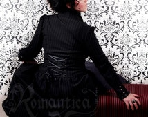 Victorian pinstripe jacket with long sleeves